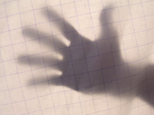 SHADOW OF HAND